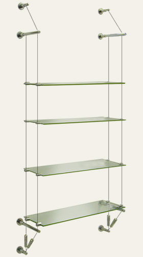 Suspended Gl Shelf Wall To